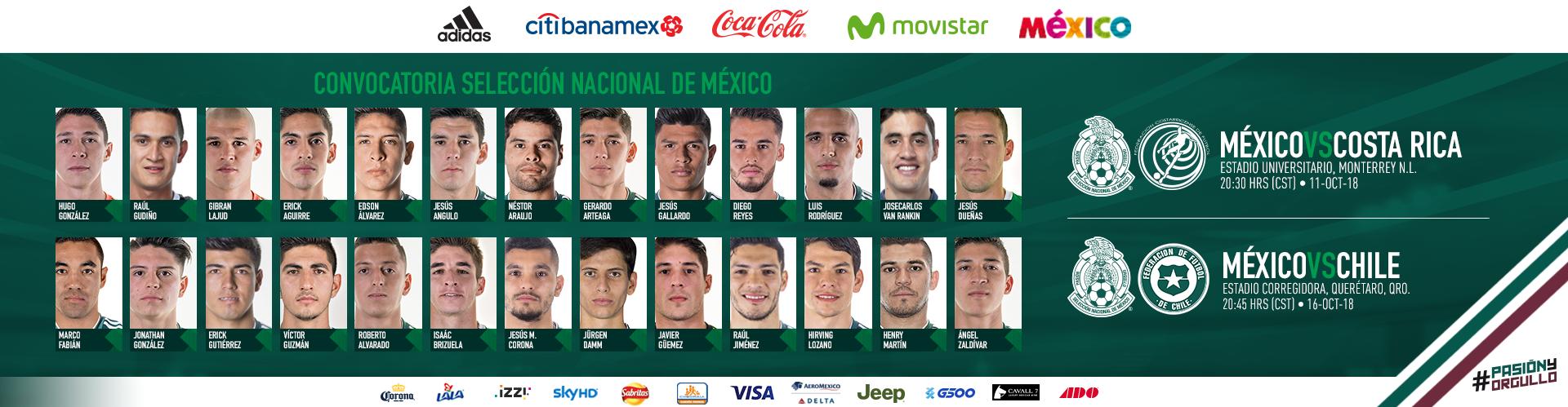 Convocatoria de la Selección Nacional de México fcba8603a6273